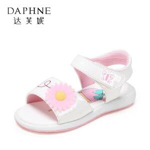 【达芙妮超品日 2件3折】鞋柜夏季新款韩版露趾凉鞋沙滩鞋透气儿童凉鞋