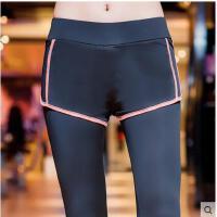 跑步运动裤假两件速干裤女休闲运动裤女弹力紧身长裤显瘦健身裤支持礼品卡支付