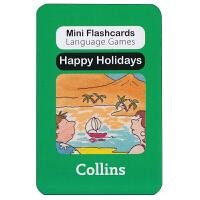 英国进口幼儿认字闪卡 happy Holidays 启蒙学习创意游戏卡片