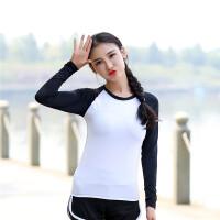 冬季瑜伽服上衣运动速干衣长袖健身服跑步服女秋冬