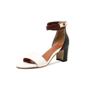 ELEISE美国艾蕾莎新品020-A42欧美超纤皮高跟粗跟女士凉鞋