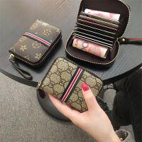 新品复古大容量拉链式卡包女式小巧*套风琴式多卡位零钱包潮