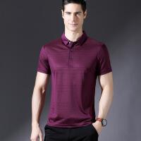 夏季新款中年男装短袖T恤翻领上衣商务休闲男士polo衫