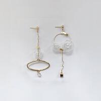 复古造型几何韩国ins水晶耳环耳钉耳夹