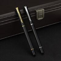 黑色金属宝珠笔商务签字笔男士女士刻字水笔笔芯签名水笔定制logo