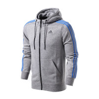 adidas阿迪达斯男子夹克外套2018新款连帽开衫休闲运动服S98786