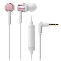 铁三角(Audio-technica)ATH-CKR30IS 线控带麦入耳式手机耳机 粉色