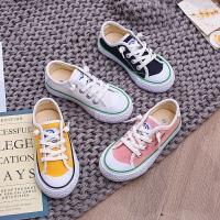�和�帆布鞋女童布鞋休�e男童小白鞋����板鞋秋季球鞋