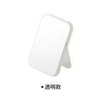 梳妆镜化妆镜 随身便携镜子 简约桌面台式折叠公主镜63958 透明款