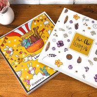 18寸覆膜手工自粘贴式影集DIY相册家庭宝宝纪念册情侣本创意礼物