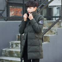 冬季外套男韩版修身立领保暖中长款袄子青年英伦风冬天棉衣潮