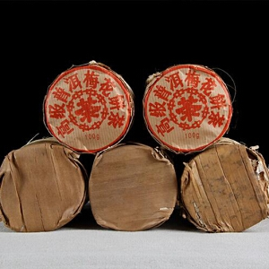 2005年 中茶 梅花饼茶 茶叶 普洱茶熟茶 100克/饼 30饼