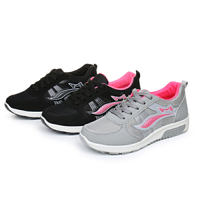2018春季健身跑步鞋网面学生女鞋运动鞋女休闲平底时尚旅游鞋潮