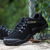 秋冬季登山鞋男鞋防水防滑低帮户外徒步鞋男士休闲鞋