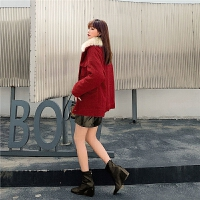 七格格仿皮草外套女中长款韩版2019新款冬季宽松时尚百搭气质上衣