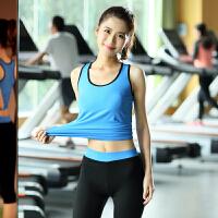 瑜伽健身服女春夏季运动跑步背心七分裤套装舞蹈健身房紧身衣