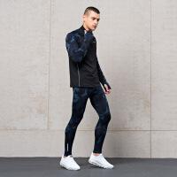 【129元2件】361度男装+1STRETCH套装新款时尚迷彩满印运动套装男
