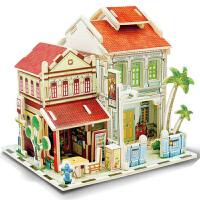 若态木质房子模型 diy手工创意小屋 迷你儿童拼装模型屋生日礼物