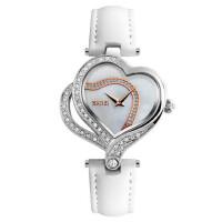 时尚潮流女士皮带石英手表水钻时装表防水腕表创意心形表壳