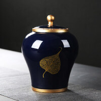 �合茶�~罐陶瓷大�家用防潮密封存��罐茶�~包�b盒普洱茶�t茶茶盒