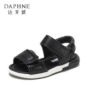 【达芙妮超品日 2件3折】鞋柜夏季新款男童软底凉鞋中小童韩版沙滩鞋露趾儿童凉鞋