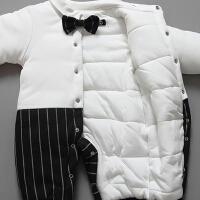 婴儿连体衣服加厚新生儿宝宝外出冬季6新年冬装3外套装棉衣0个月