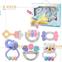 新生婴儿玩具牙胶手摇铃可咬水煮3-6-12个月5男宝宝女孩0-1岁