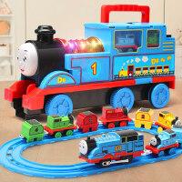 大号小火车轨道套装玩具电动声光儿童男孩汽车合金模型益智