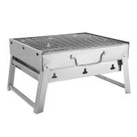 加厚不锈钢烧烤炉户外便携木炭烧烤架家用折叠野外烤肉炉烧烤箱