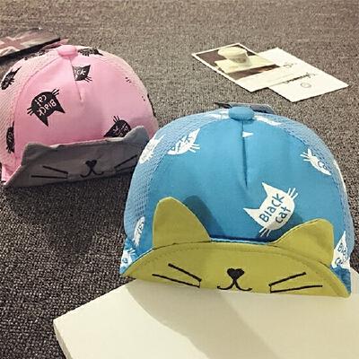 儿童鸭舌帽男夏天网帽薄款遮阳帽女宝宝棒球帽0-1-2岁婴儿帽子潮 发货周期:一般在付款后2-90天左右发货,具体发货时间请以与客服协商的时间为准
