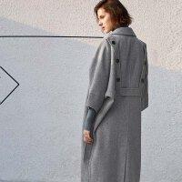 Amii[极简主义]100%羊毛澳毛双面呢大衣850g卡拉扬系列毛呢外套11776184