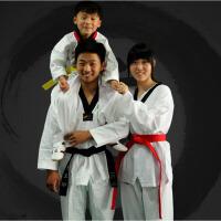 男女款棉质跆拳道教练服装 跆拳道服儿童训练服初学大人