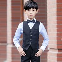 春款男童礼服套装童装礼服男钢琴演出服花童礼服男儿童西装马甲