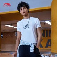 李宁迪士尼玩具总动员联名款短袖T恤男士新款短装夏季运动服AHSN279