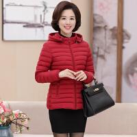 中老年女装秋冬季羽绒修身大码妈妈装加厚保暖短款棉衣外套