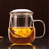 七夕�Y物 加厚玻璃杯 花茶杯水杯茶具杯子女喝水���w茶杯 �k公室�^�V泡茶杯