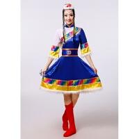 女装藏族舞蹈服装演出服装民族舞蹈表演服水袖西藏雪莲花藏族