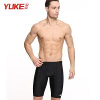 男士泳裤 五分平角仿鲨鱼皮游泳裤 时尚防水速干泳衣泳装装备 五分裤 XL(建议体重100-115斤)