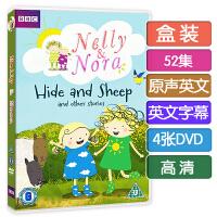 英文版nelly and nora 奈莉和诺拉DVD高清52集 英语字幕 启蒙动画