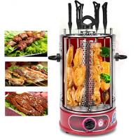 家用无烟烤肉机自动旋转电烤肉炉商用烧烤炉 定时开关8叉