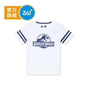 361度男童短袖T恤童装儿童休闲上衣侏罗纪款2018年夏季新款K51822212