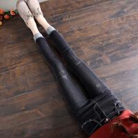 九分修身牛仔裤女春夏季新款薄款显瘦韩版卷边小脚铅笔裤