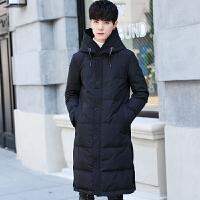 冬季新款过膝加厚羽绒服中长款男士韩版修身外套潮流保暖大衣