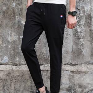 【限时抢购】Q-AND/奇安达男士运动裤2018新款舒适弹力透气针织休闲长裤