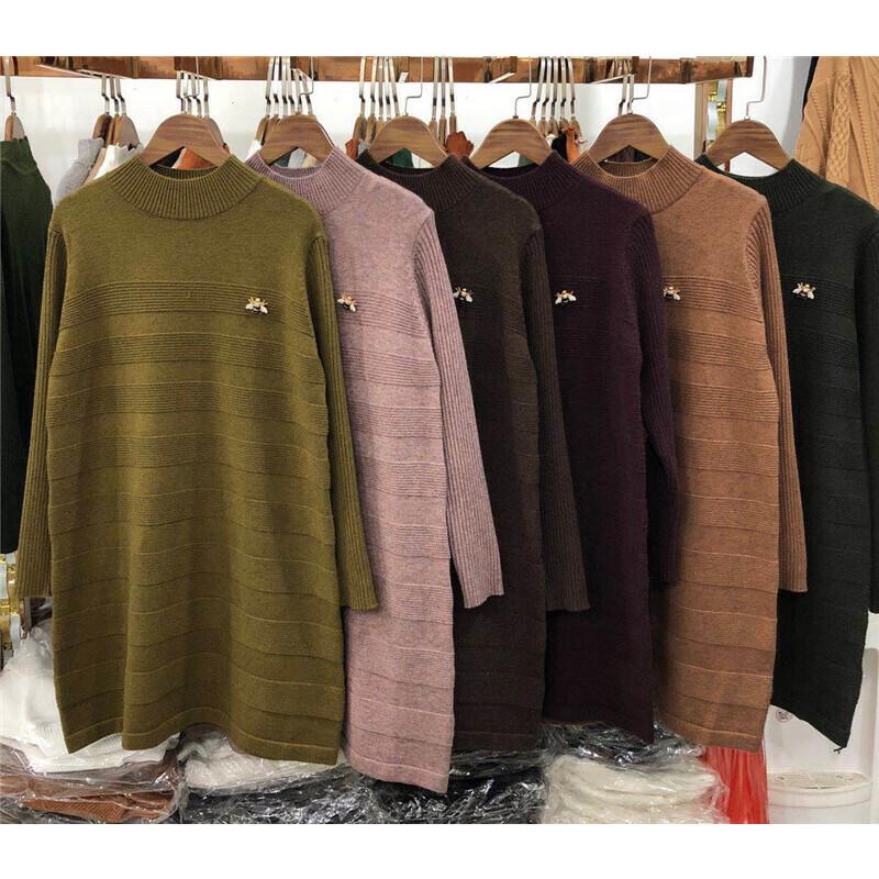 T3毛衣女秋冬中长款半高领宽松打底衫韩版套头长袖针织衫混色0.52 发货周期:一般在付款后2-90天左右发货,具体发货时间请以与客服协商的时间为准