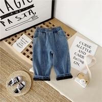 儿童牛仔裤冬男童时尚洋气保暖休闲长裤宝宝裤子