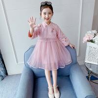 儿童连衣裙2020新款春装中国风小女孩旗袍唐装纱裙女童裙子公主裙