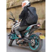 黑鲸双肩包男防水骑士骑行背包电脑包摩托车头盔包全盔包书包旅行
