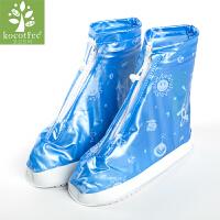 儿童雨鞋套加厚男童女童耐磨雨靴套小学生胶鞋套水鞋中筒 S 适用于26-27码