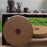 加厚蒲团禅垫瑜伽打坐飘窗坐垫冬暖夏凉日式榻榻米垫子藤草编坐垫 和垫 直径55厘米厚度7厘米